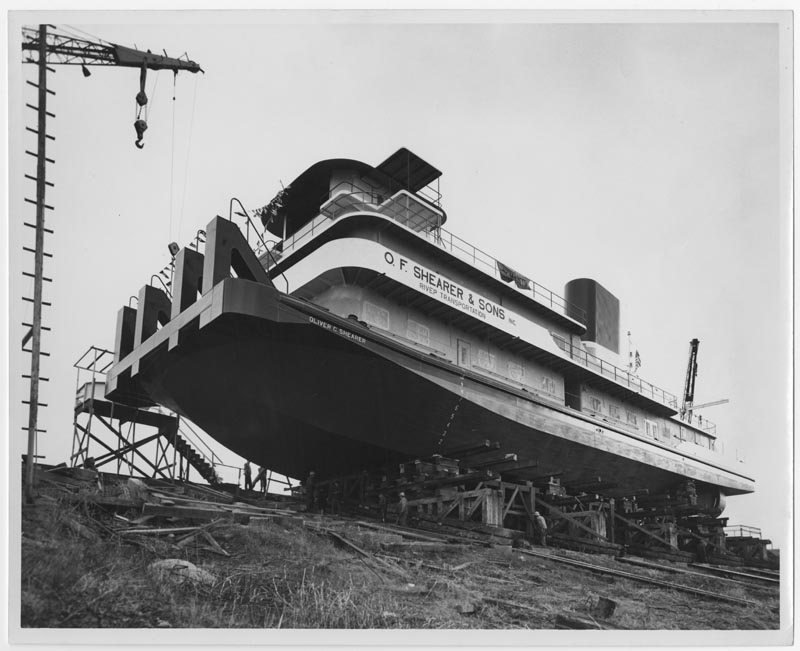 "M.V. Towboat ""Oliver C. Shearer"" being built"