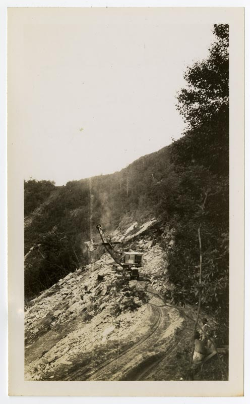 Blue Ridge Parkway construction at Ice Rock