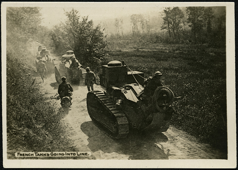 French tanks going into line