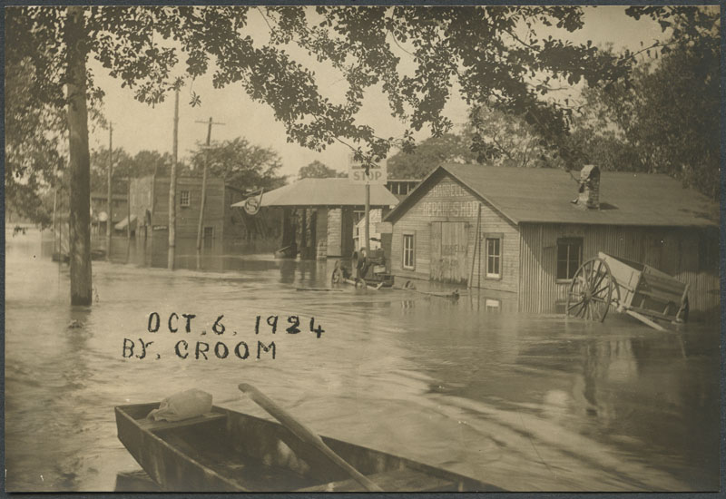 Flooding near Kinston, North Carolina
