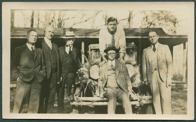 Fred Sutton with Babe Ruth and others at Camp Bryan.