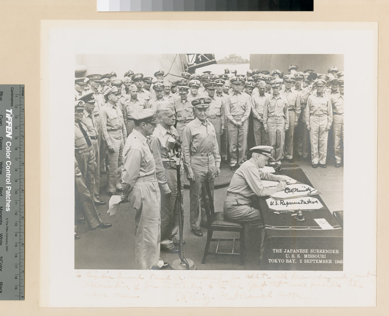Japanese Surrender, U.S.S. Missouri, Tokyo Bay 2 September 1945
