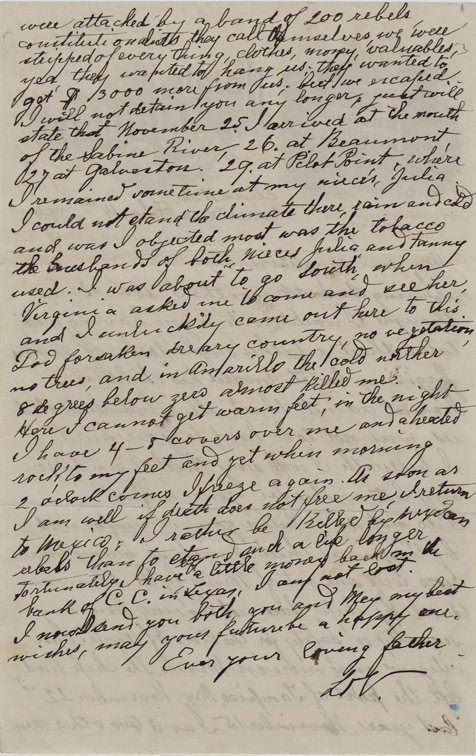 Letter from Lorenzo Devisconti to his daughter, Tabitha, page two
