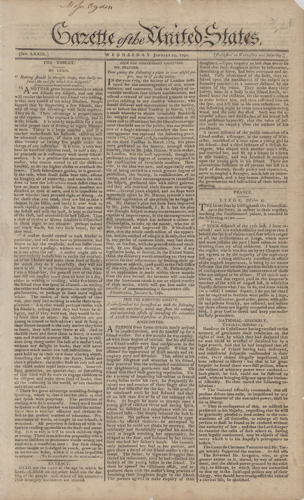 Gazette of the United States Collection