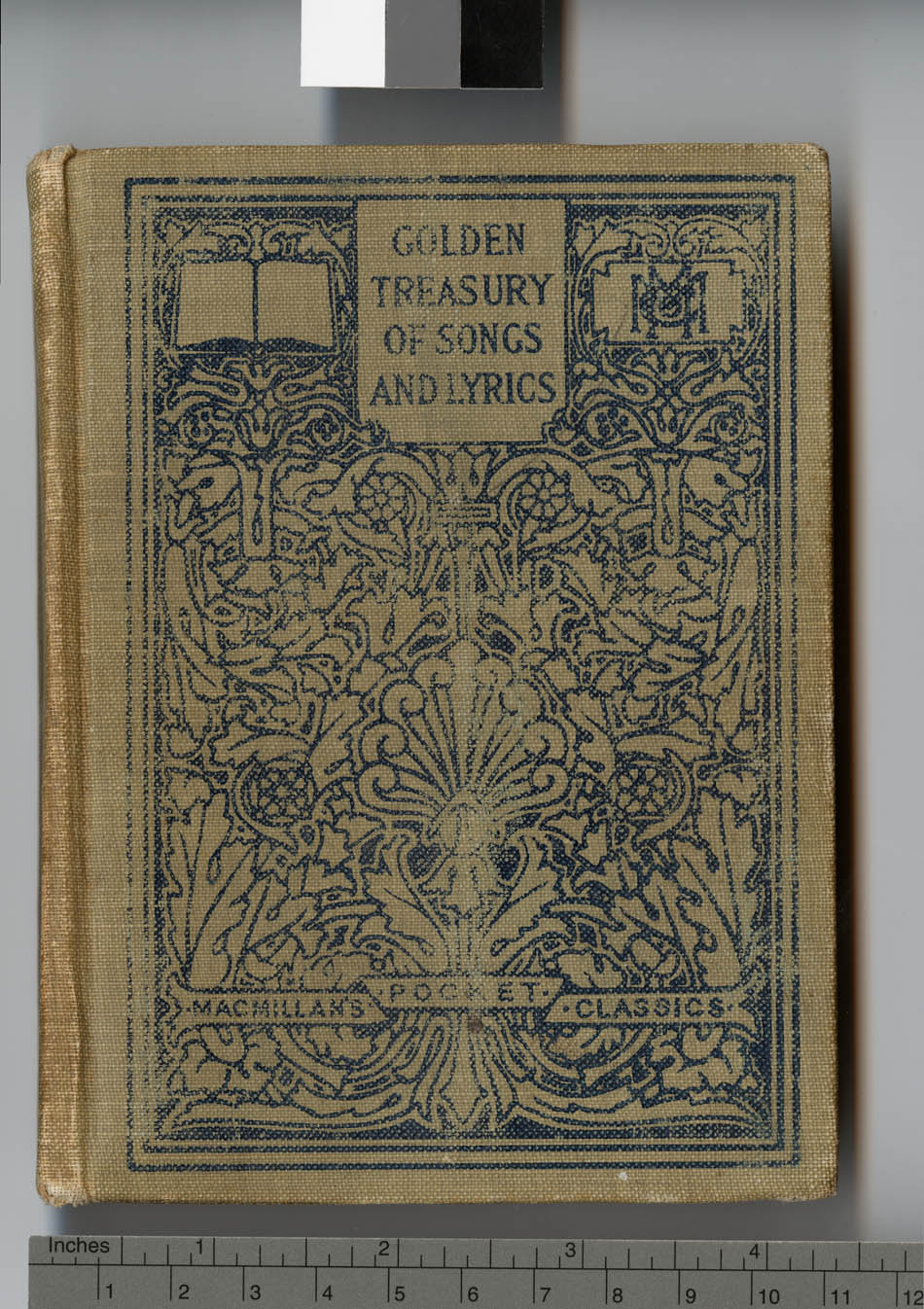 Front cover and bookplate of Golden treasury of songs and lyrics