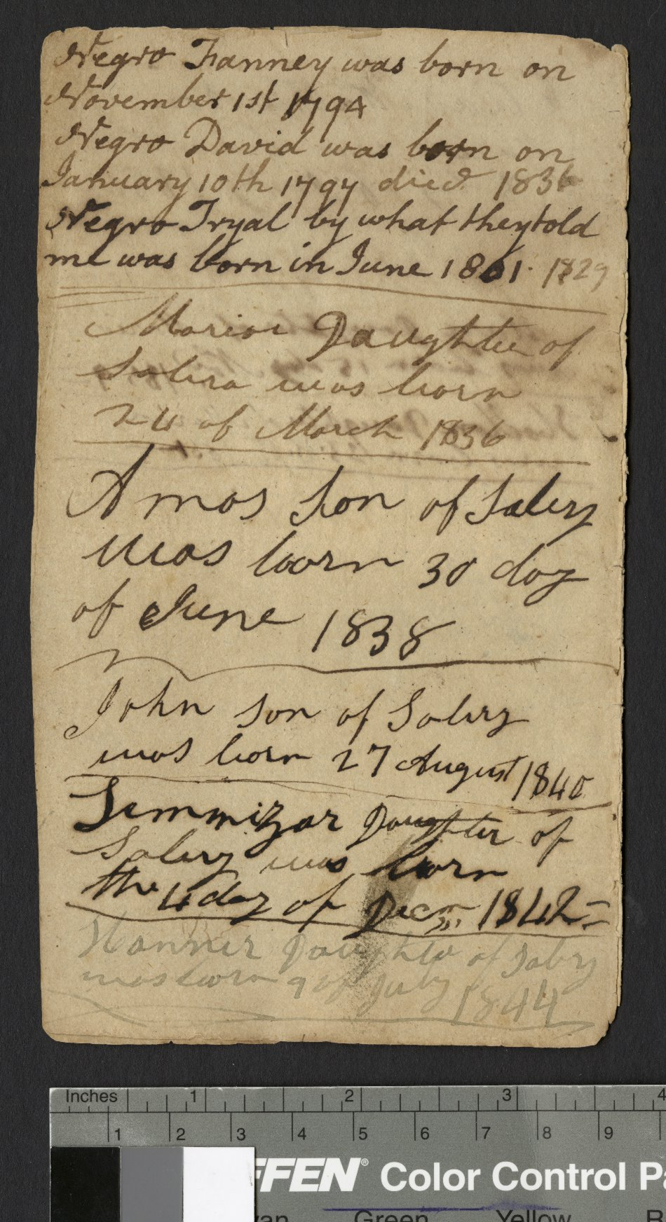 James Ormond Diary, page 51