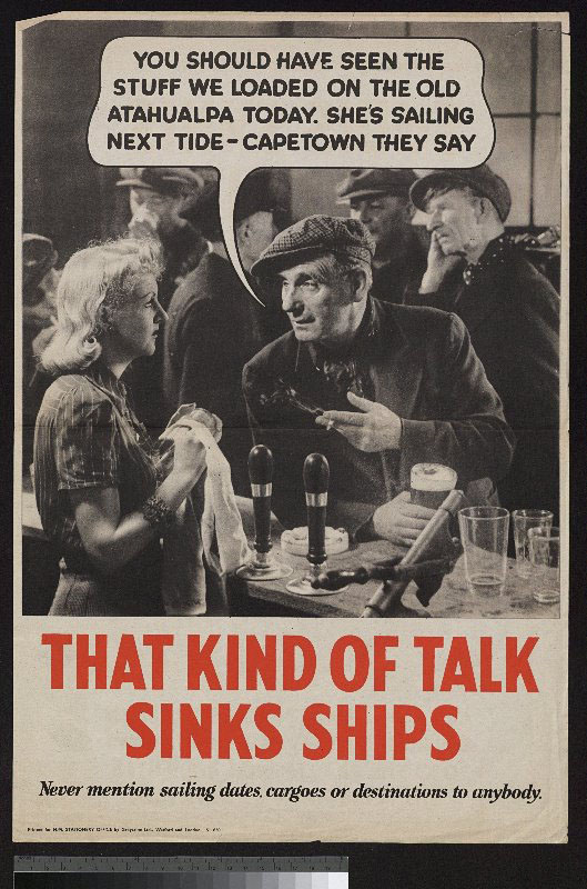 British World War I Propaganda Posters. Don#39;t Help the Enemy Poster