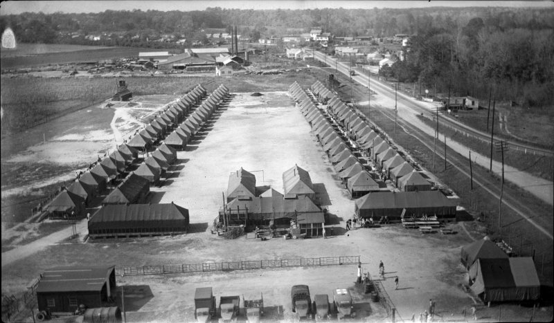 Aerial view of WWII POW Camp in Williamston, N.C.