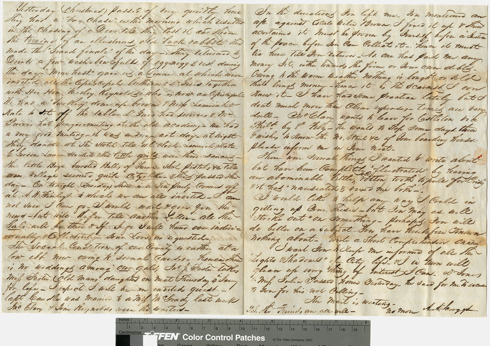 Letter from Dr. A. A. Scroggs of Wilkesboro, N.C., to Dr. Robert F. Hackett at Jefferson