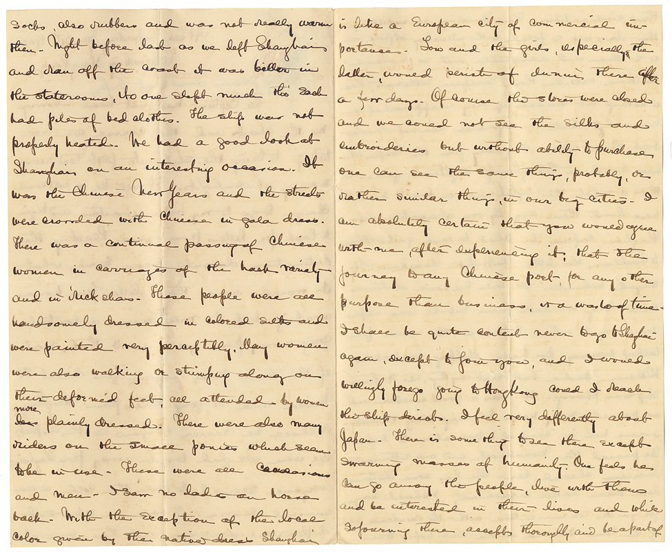 Letter of George Leland Dyer to Mrs. Dyer