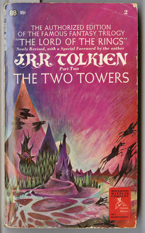 cover of the two towers being the second part of the lord